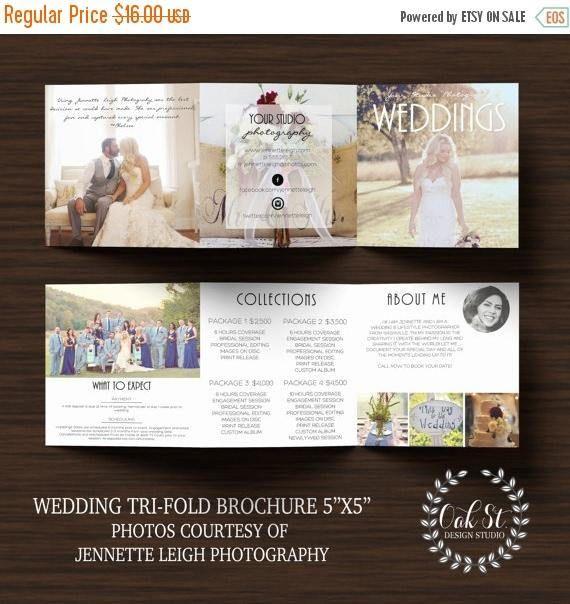 Photographer Wedding Brochure Template Modern Wedding Marketing