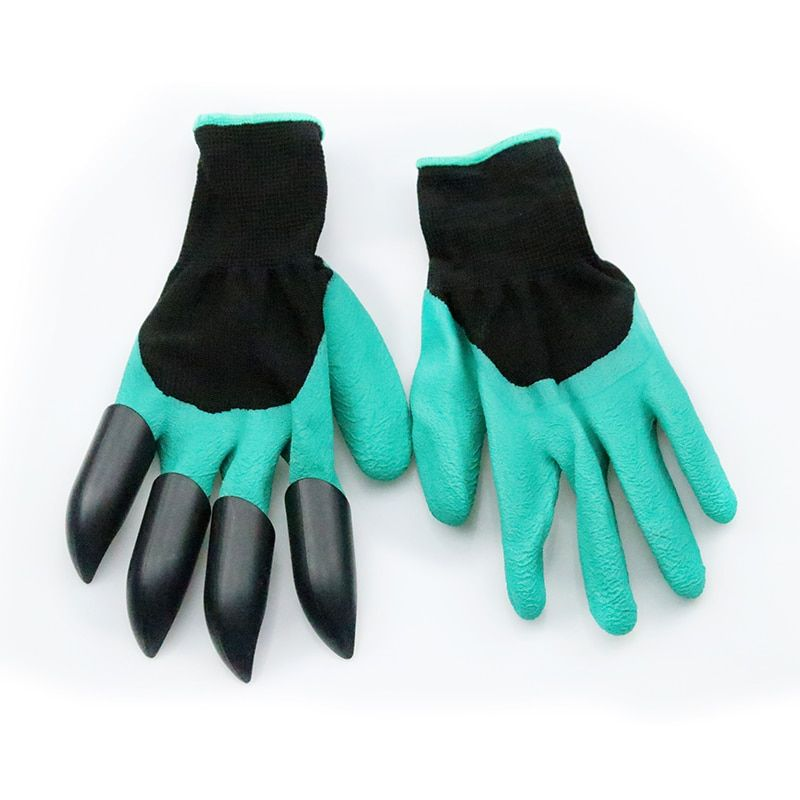 Garden Gloves With Fingertips Claws Quick Easy To Dig And Plant