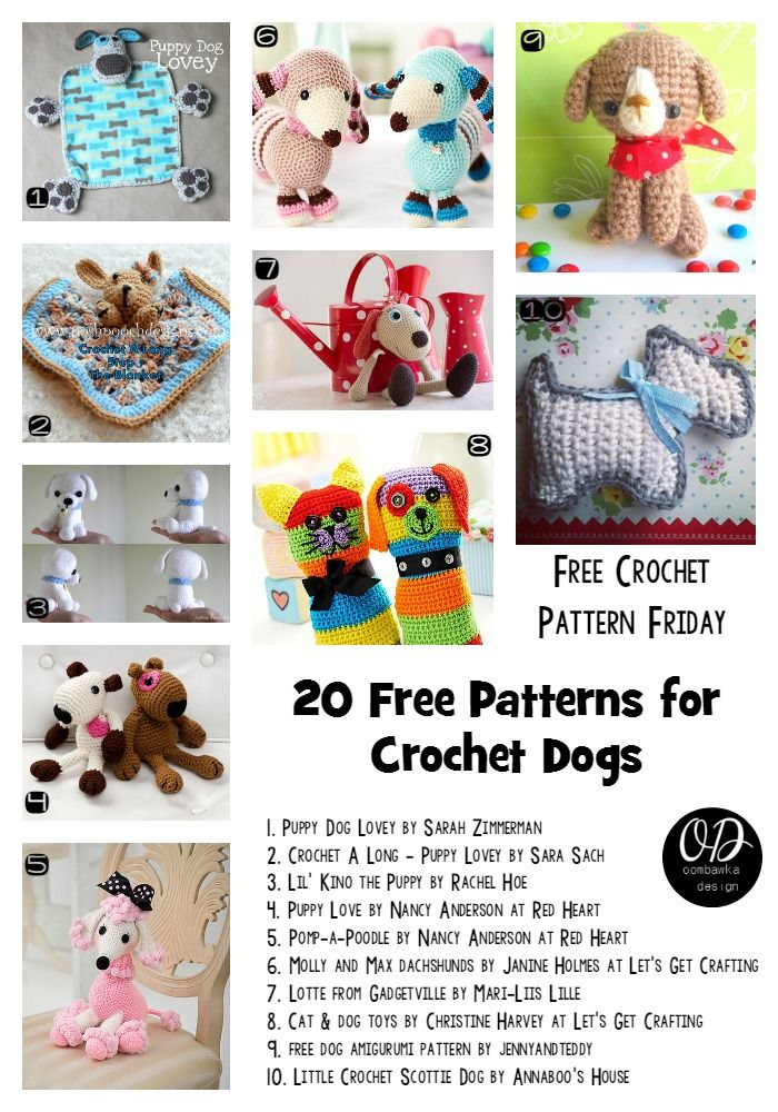 20 Free Patterns for Crochet Dogs | Ropa informal, Crochet patrones ...