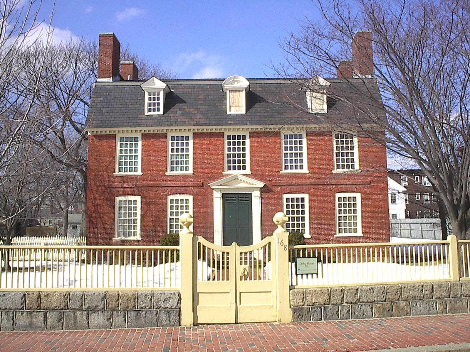 The Derby House Was Built In 1762 By Richard For His Son Elias Haskett Americas First Millionaire Georgian Style Is Oldest