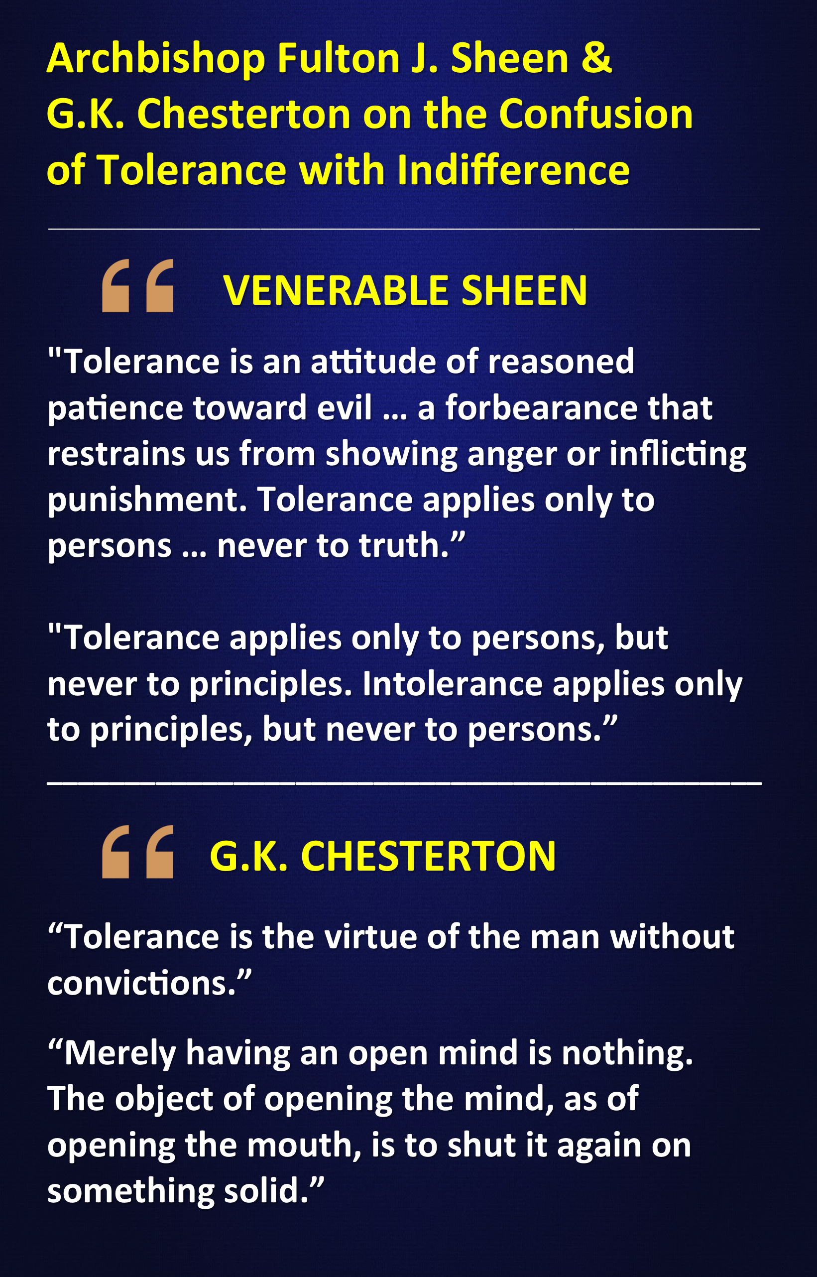 Indifference Quotes Venerable Fulton Sheen And Gk Chesterton On The Difference Between