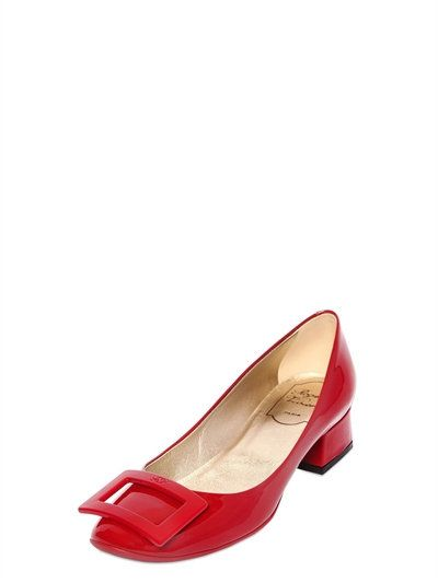 ROGER VIVIER - 35MM BELLE DE NUIT PATENT LEATHER PUMPS - PUMPS - RED -  LUISAVIAROMA | Roger Vivier | Pinterest | Roger vivier, Patent leather pumps  and ...