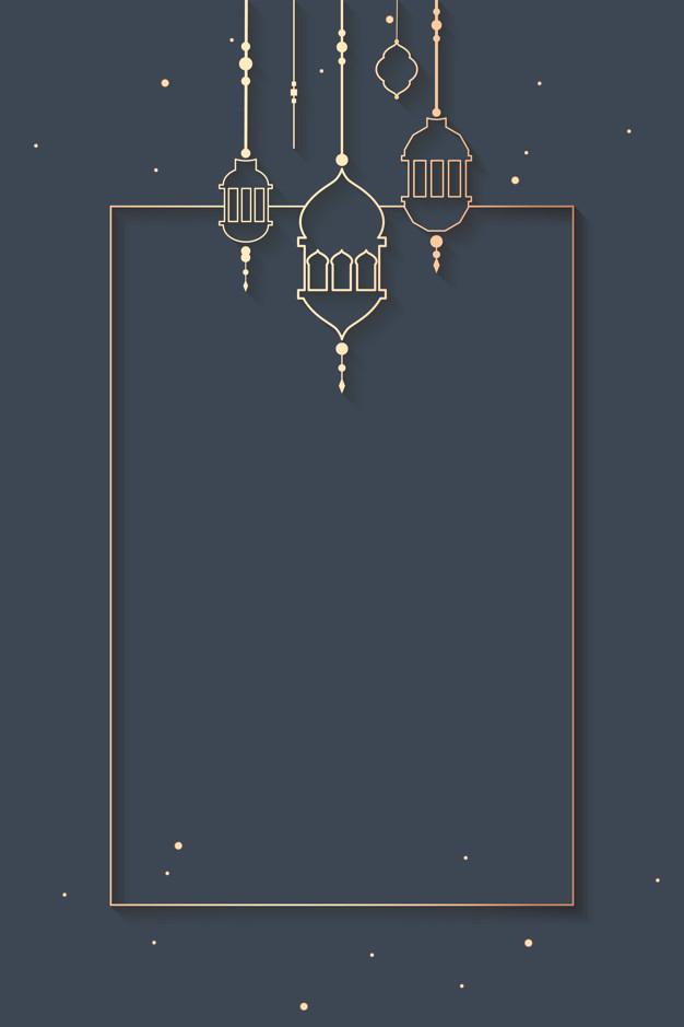 Ramadan Framed Background Design Vector Free Download Ramadan Background Wallpaper Ramadhan Ramadan Cards