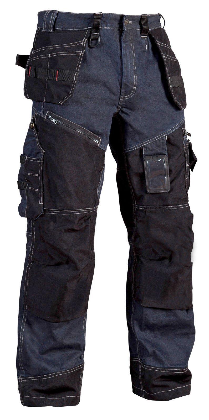 Blaklader Knee Pad Work Trousers with Nail Pockets (Denim) X1500 ... 88cda6fd5ad