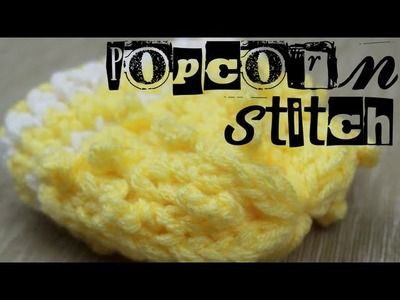Loom Knitting: Popcorn Stitch #loomknitting