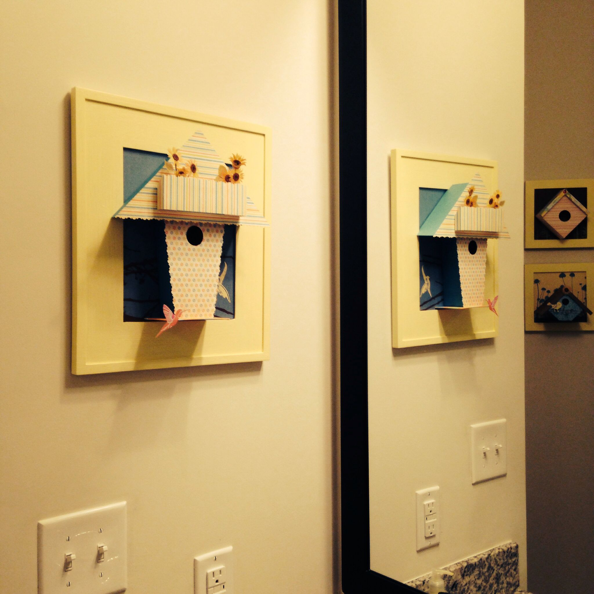 Mirror view #bird #cage #crafts #frames #paper #simple #complex ...