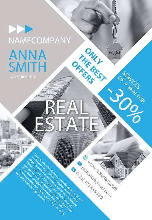 Free Real Estate Company Flyer Template Httpfreepsdflyer