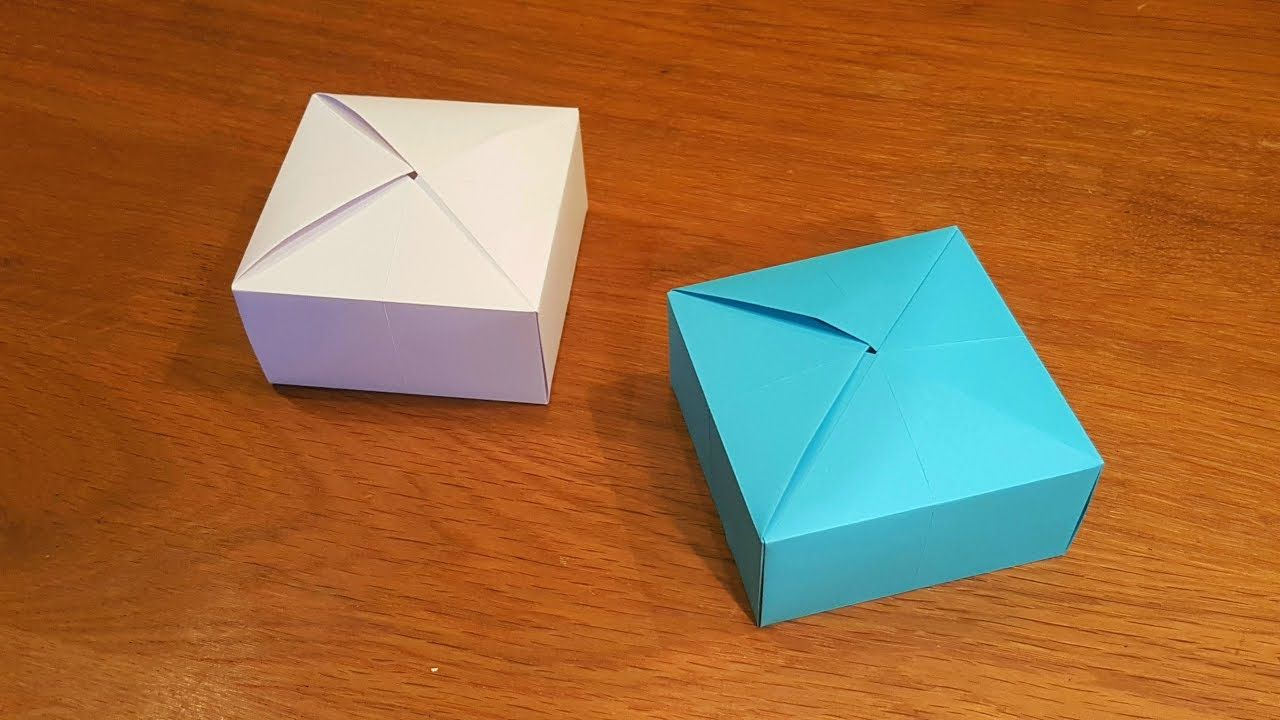 How to make Paper Box that opens and closes | DIY Paper Crafts ... | 720x1280