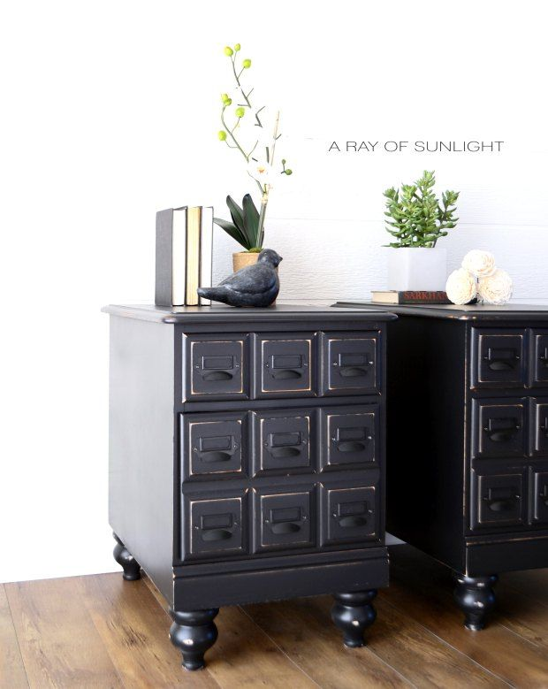 Exceptional Apothecary Style Nightstands