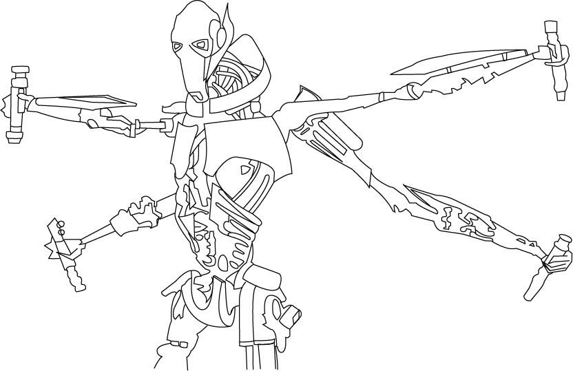 General Grievous Coloring Pages Grievous Coloring Pages And How To Draw Droidekas In Star Wars Coloring Star Wars Coloring Book Star Wars Colors Coloring Pages