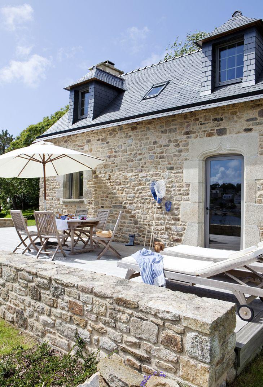 Les galets blancs le penty ty j r me ext rieur en 2019 maison en pierre maisons de - Desodorisant naturel pour maison ...