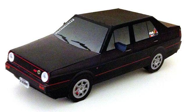 Papermau Easy To Build 1992 S Volkswagen Jetta Paper Model