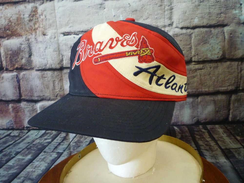 details braves big hat cap baseball tomahawk twins enterprise lucky brand