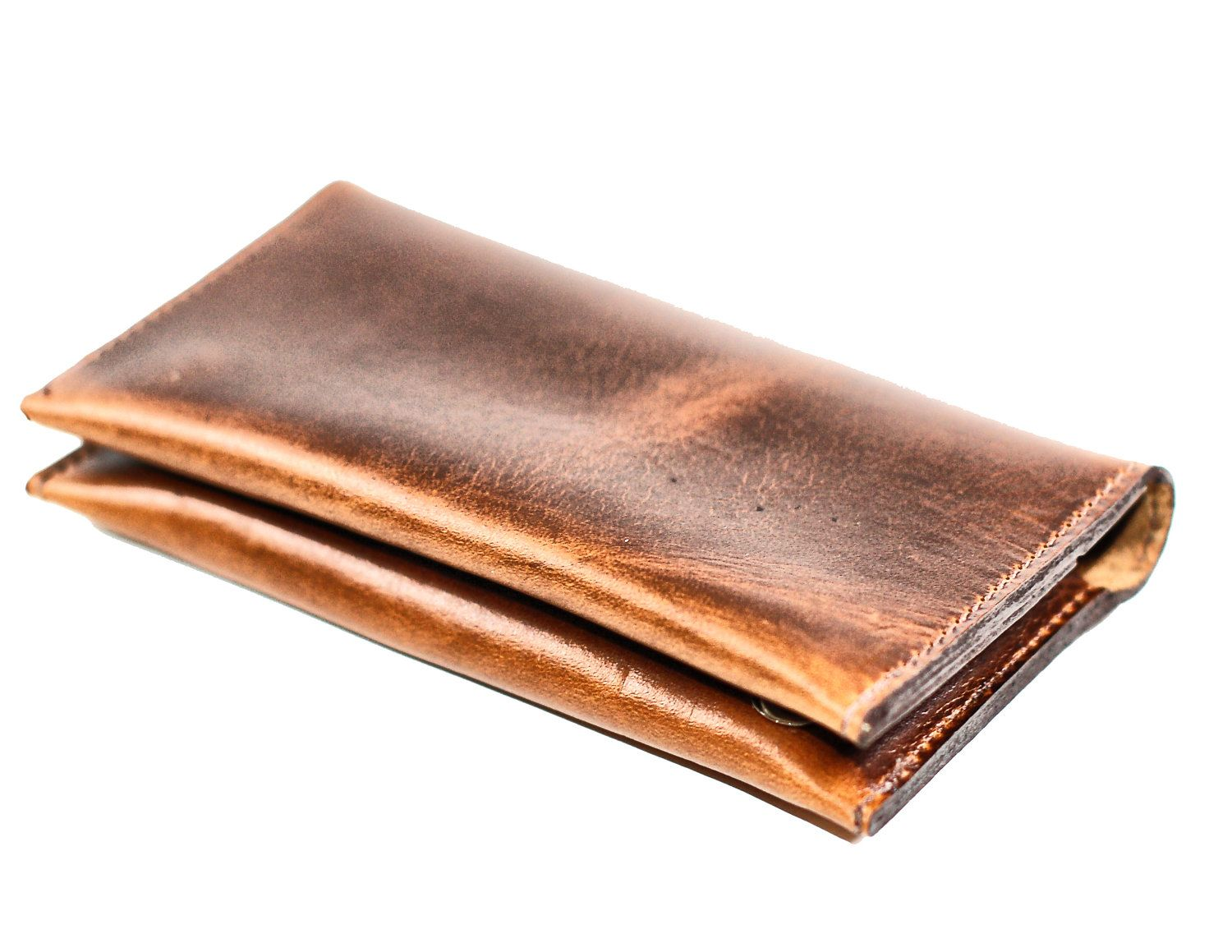 Leather Rugged Mens Wallet Distressed
