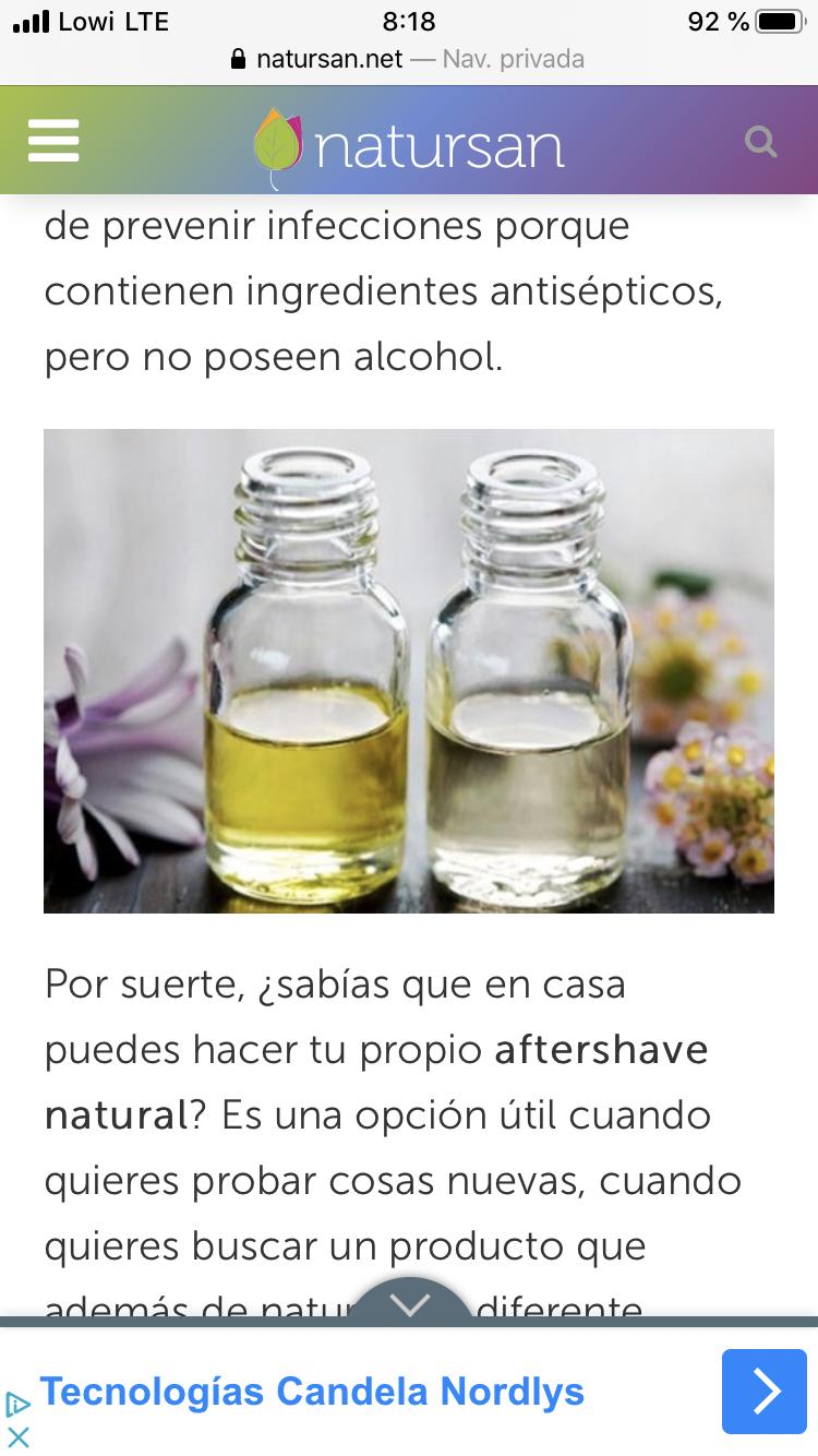 Aftershave Casero Aceites Esenciales De Menta Aftershave Aceite Esencial De Lavanda