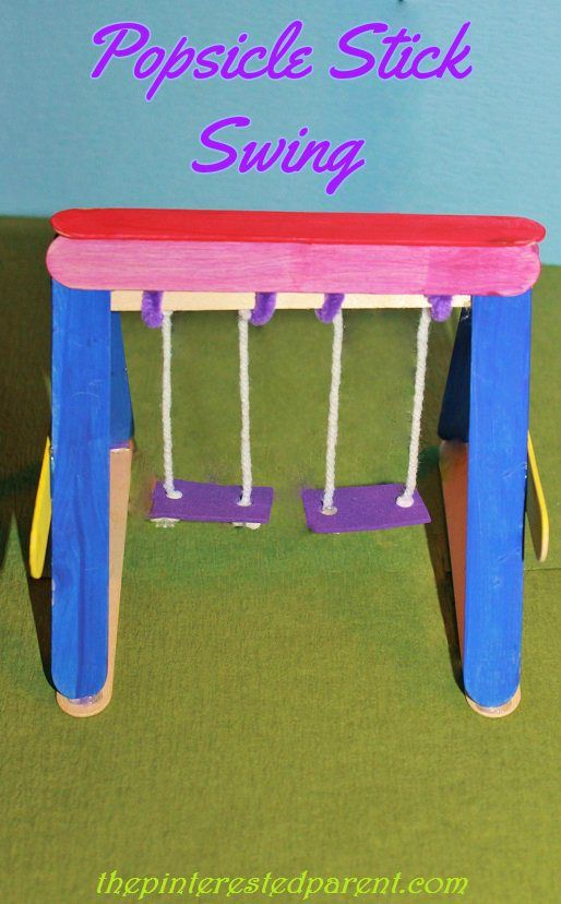 Photo of Popsicle Stick Swing – The Pinterested Parent