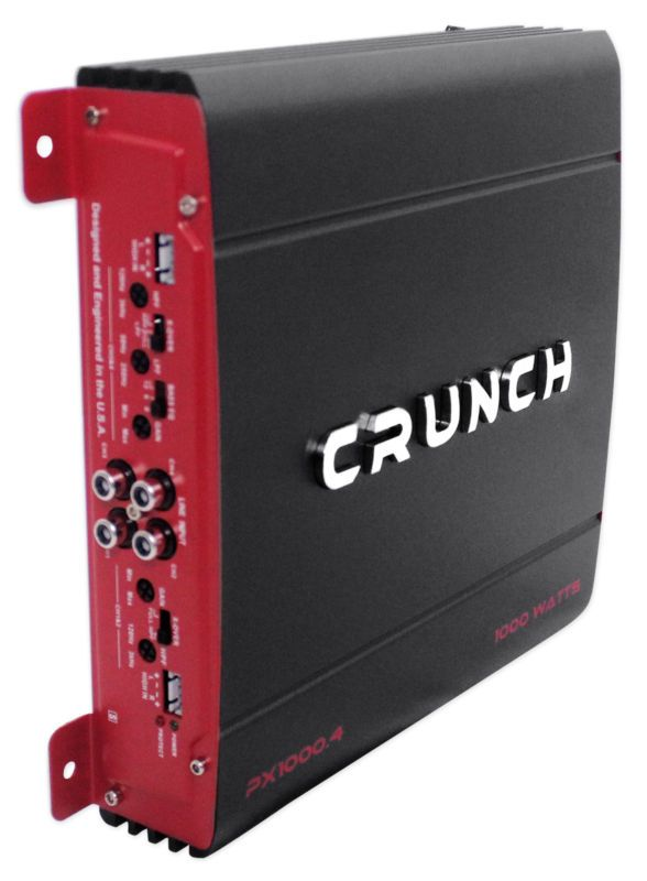 Crunch PX-1000 4 1000 Watt 4 Channel Powerful Car Audio