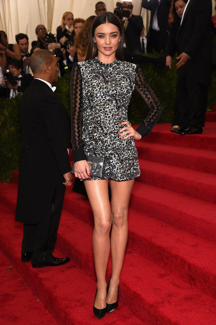 Pin for Later: Feast Your Eyes on All the Met Gala Glamour Miranda Kerr The supermodel showed her stems on the way up the stairs.