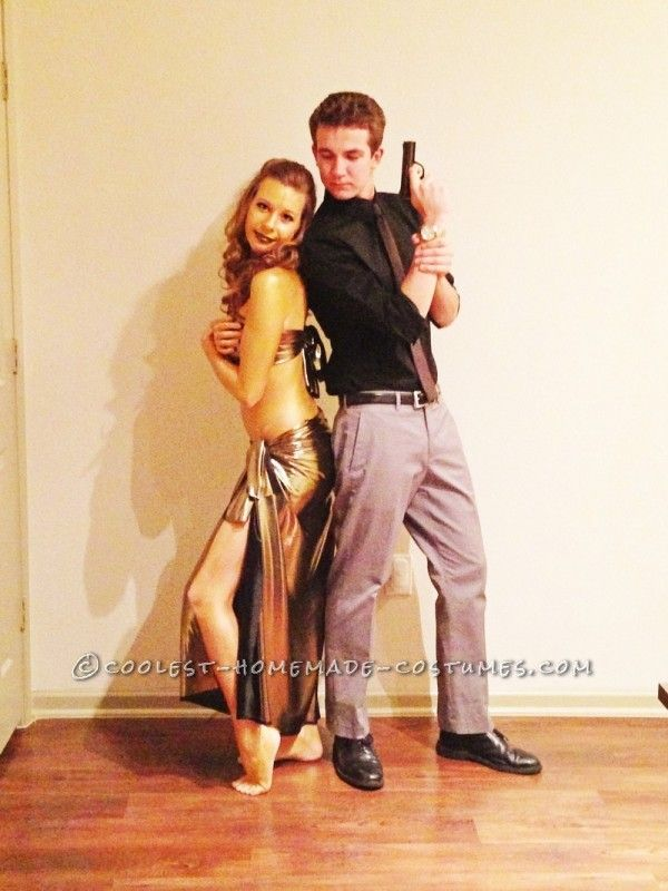 My boyfriend and I tried to think up a very unique costume idea for this halloween. And since the new James Bond movie Skyfall is coming out soon  sc 1 st  Pinterest & Coolest Couple Halloween Costume: James Bond and the Golden Girl ...