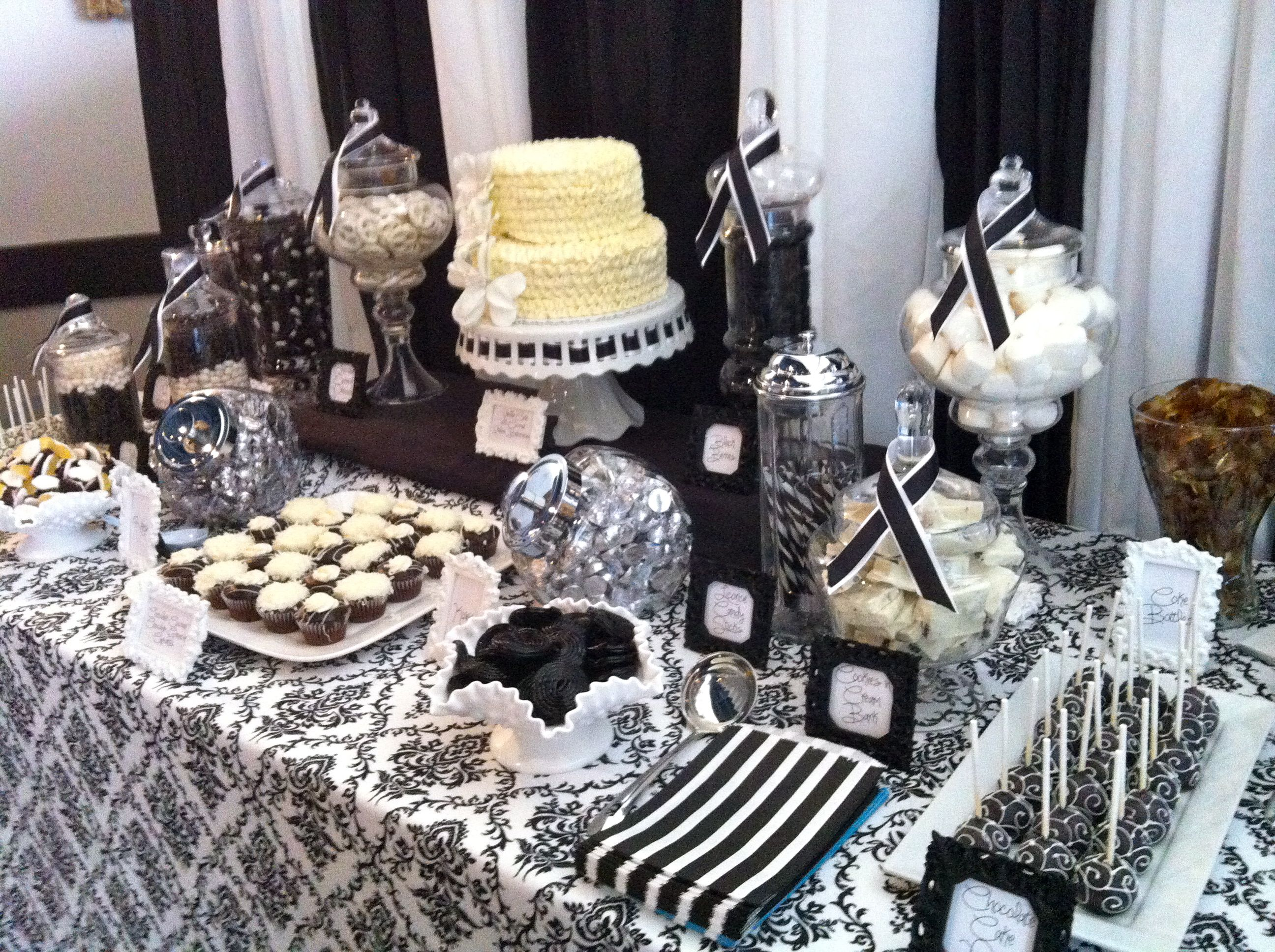 black and white dessert table ideas google search