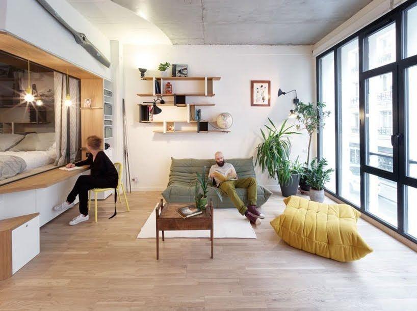 Este apartamento incluye una variedad de soluciones for Soluciones apartamentos pequenos