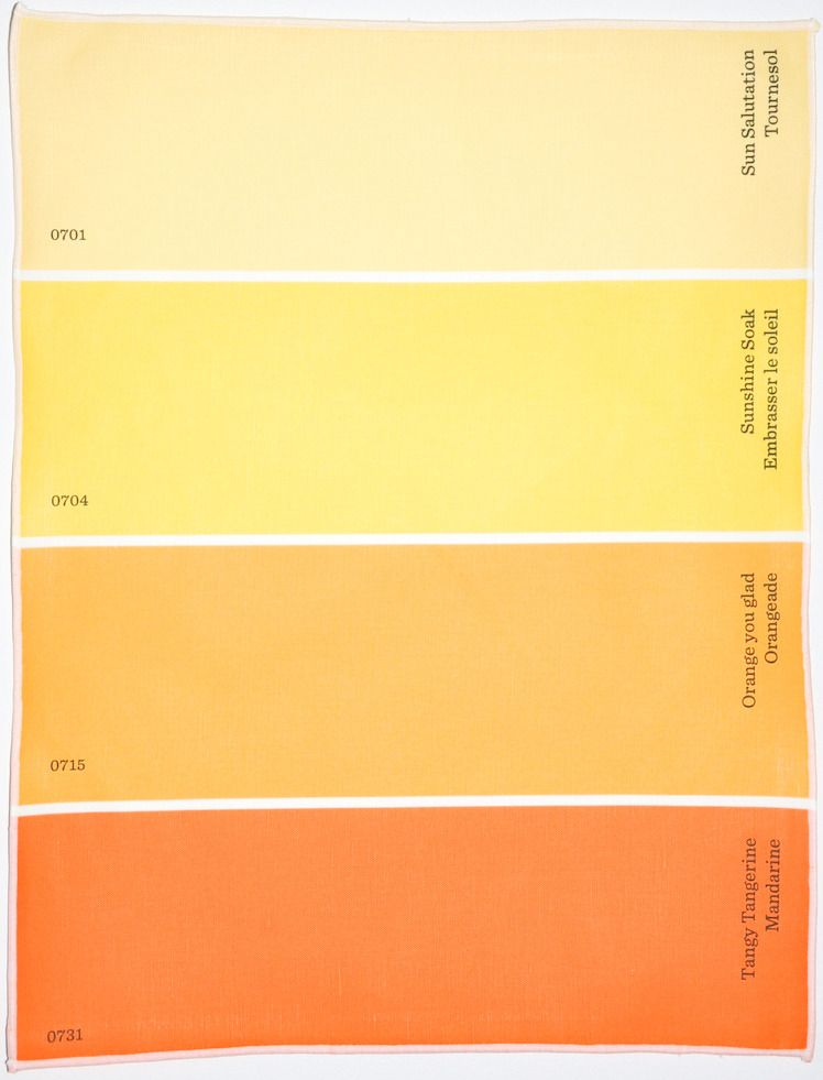 w/ color names in english french, these paint chip place mats are