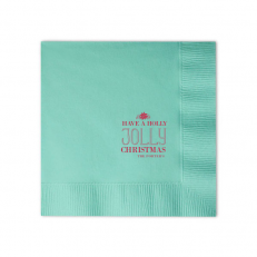 Custom Dinner Napkins Tiffany Blue With Shiny Merlot On ForYourParty