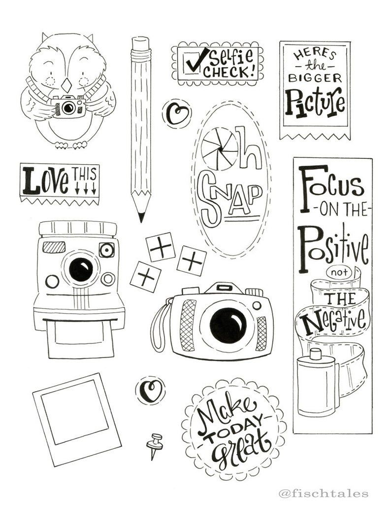 The Bigger Picture Drawing Guide Copy and Trace Printable