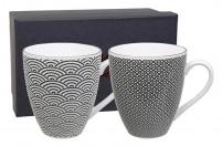 Juego de cucharas soperas negras y blancas ToKYO Design Nippon Black 3 cucharas asi/áticas de porcelana en dise/ño japon/és.