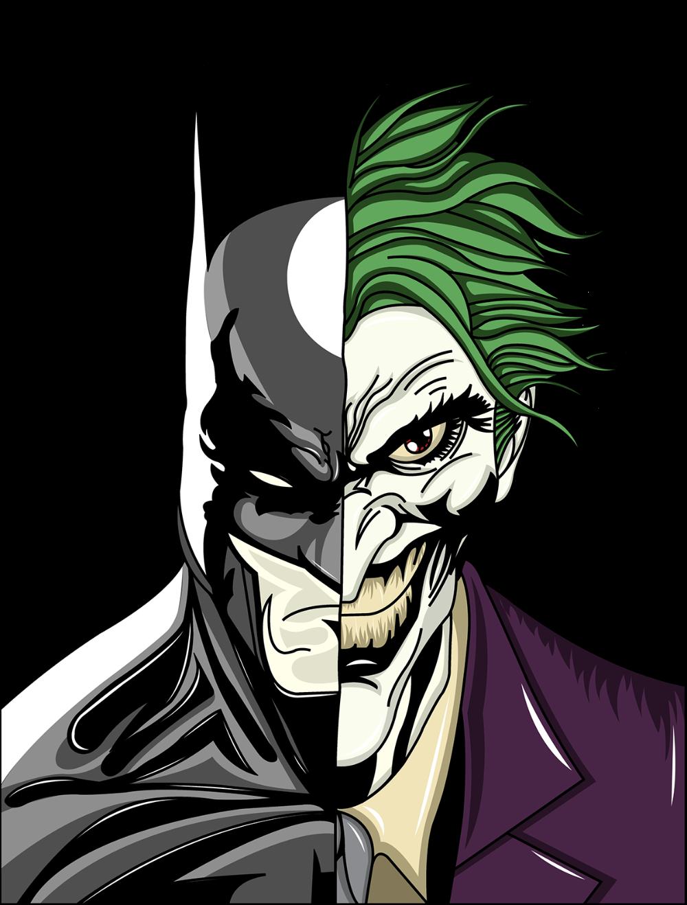 Batman Joker On Behance In 2020 Batman Art Drawing Batman Drawing Joker Drawings