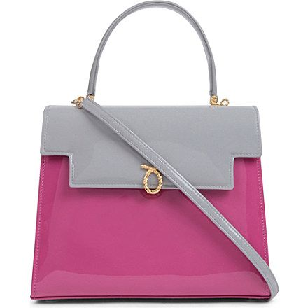 LAUNER Traviata patent leather handbag (Dove magenta  abc57e012affc