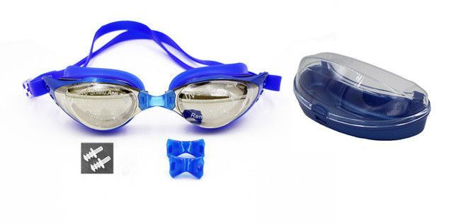 man woman unisex coating mirrored male female swimming goggles glasses eyewear anti fog pool summer equipment anti UV waterproof