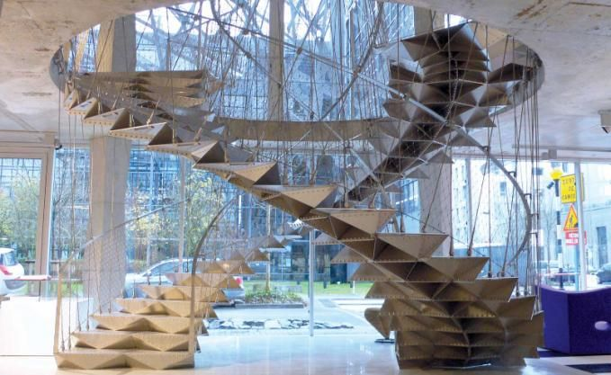 Origami Stairs Wenteltrap Ladder Trappen