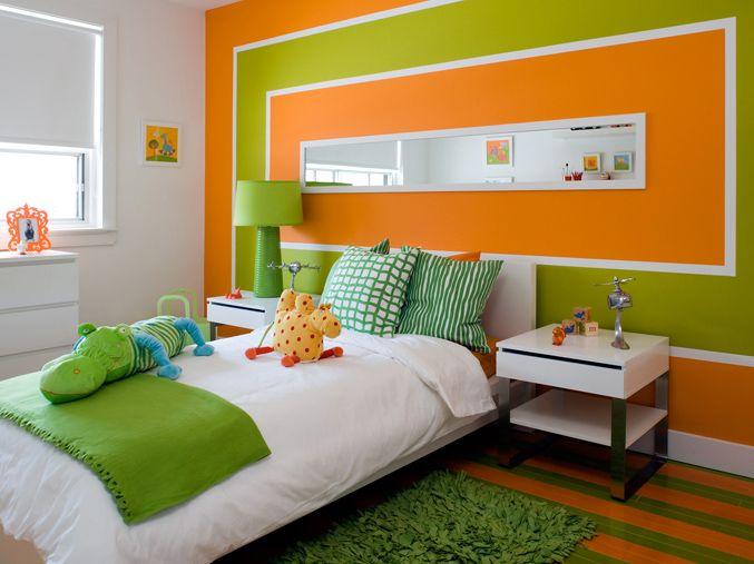 Naranja Y Verde Green Kids Rooms Kid Room Decor Bedroom Green