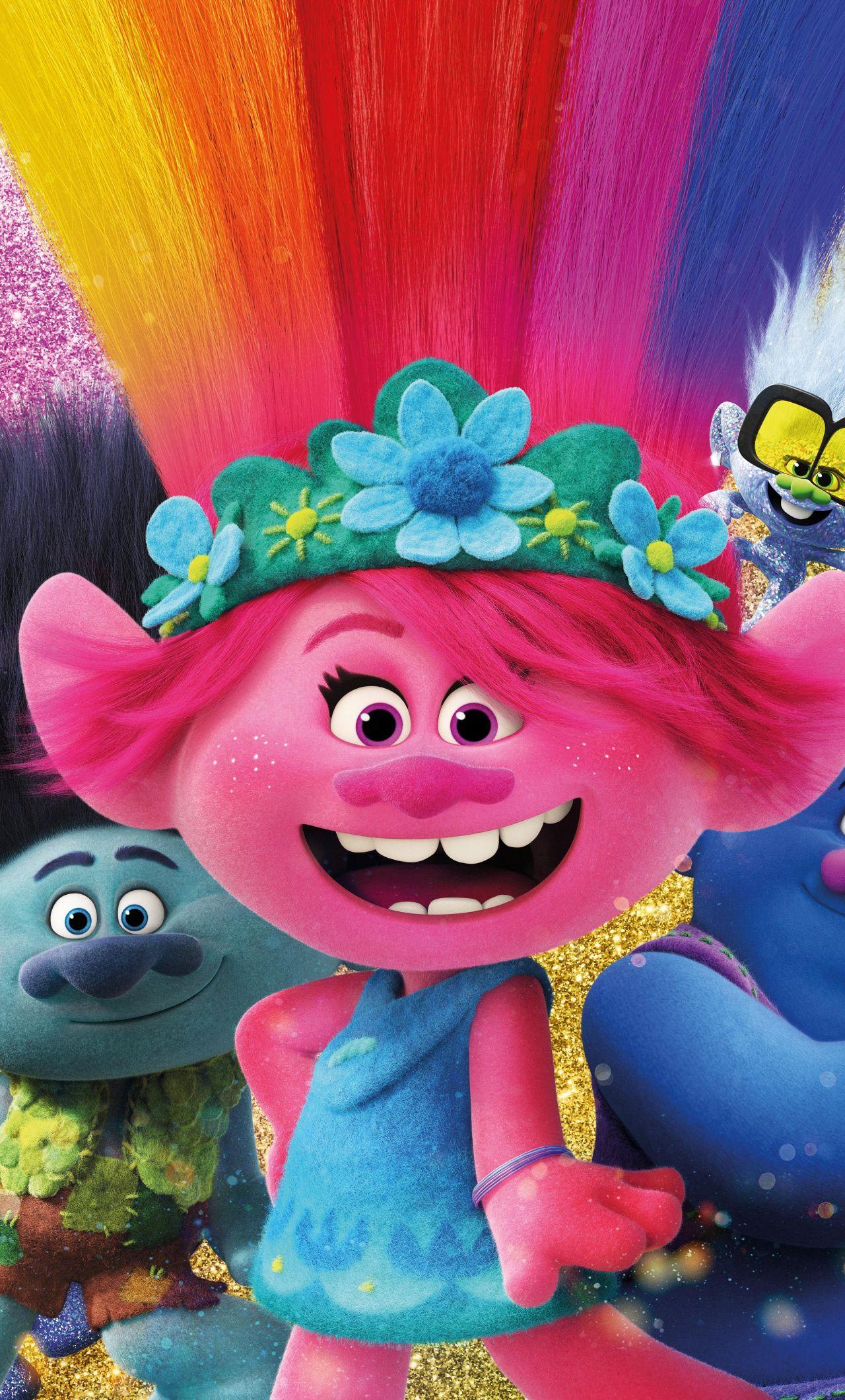 1280x2120 trolls world tour 2020 animation movie