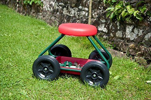 Good Ideas Wheeled Garden Seat / Stool (1435) Handy Rolling Garden Work  Seat On Wheels. Includes Good Ideas Stone U0026 Decking Cleaner