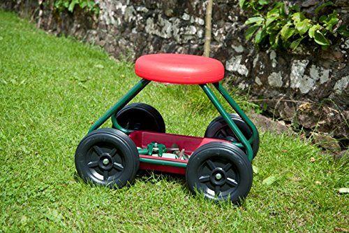 Good Ideas Wheeled Garden Seat / Stool (1435) Handy Rolling Garden Work Seat  On Wheels. Includes Good Ideas Stone U0026 Decking Cleaner