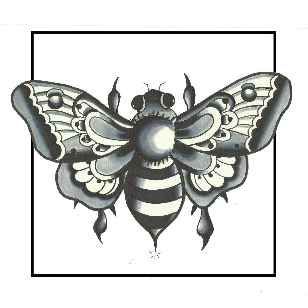 Float Like A Butterfly Sting Like A Bee Traditional Butterfly Bee