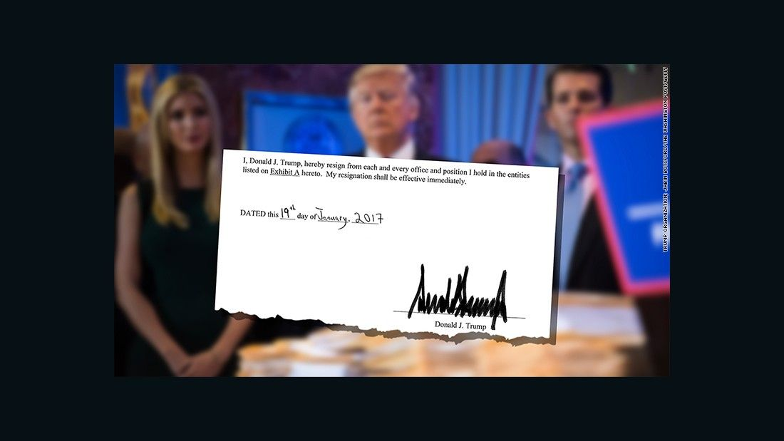 awesome Documents show Trump has resigned from