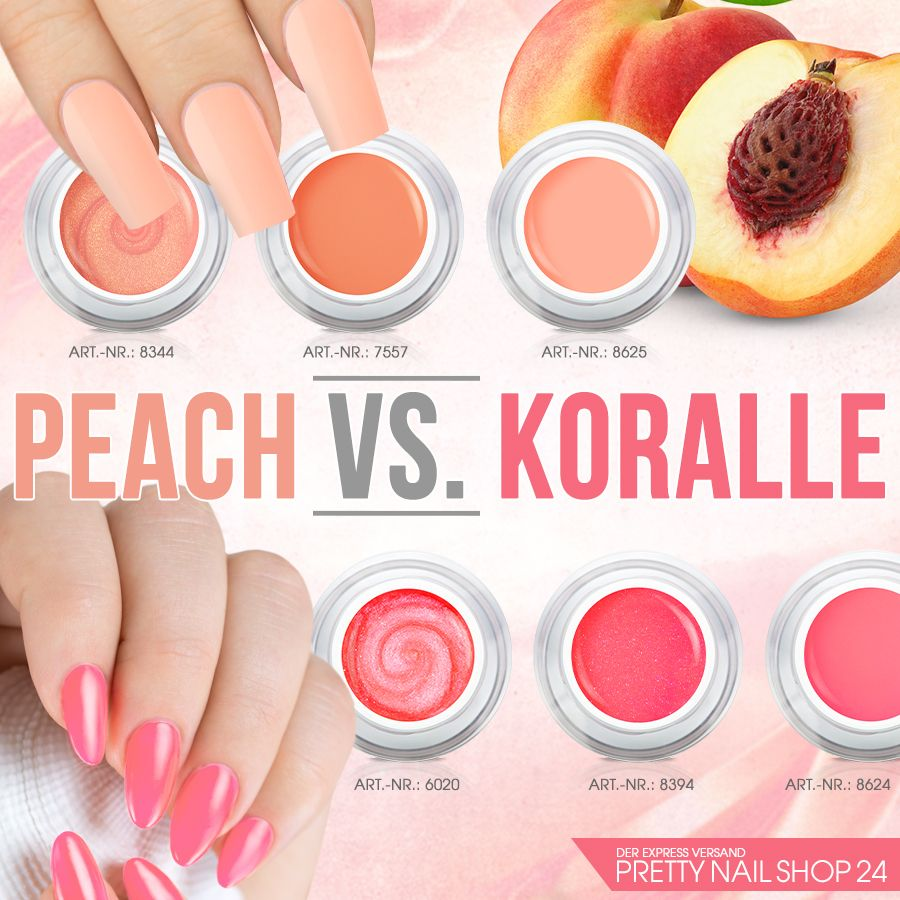 coral #peach #colors #nails #nailart Sommerliche Koralle oder ...