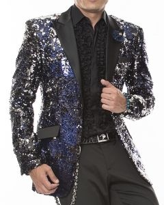 cea5ef957f3 Men s Blazer and Sport Coat-Sequins Vegas Blue