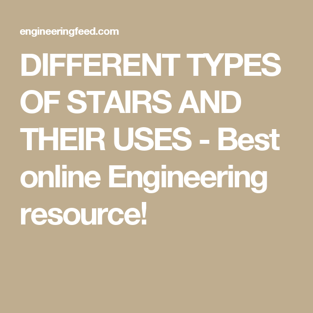 Different Types Of Staircases: DIFFERENT TYPES OF STAIRS AND THEIR USES