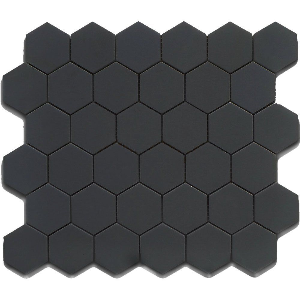 Black 12x12 Hexagon Mosaic 11pcs Carton 11 Sq Ft Ceramic Floor Tiles Amazon Com Hexagonal Mosaic Tile Bathroom Black Hexagon Tile