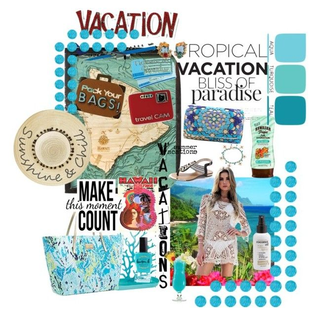 """""""Tropical Vacation"""" by laneywyble on Polyvore featuring Thos. Baker, Koziol, Lilly Pulitzer, Hawaiian Tropic, TIKI, Lauren B. Beauty, Betsey Johnson and Les Néréides"""