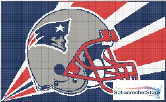 Graph Pattern New England Patriots Crochet By Sofiacrochetstore