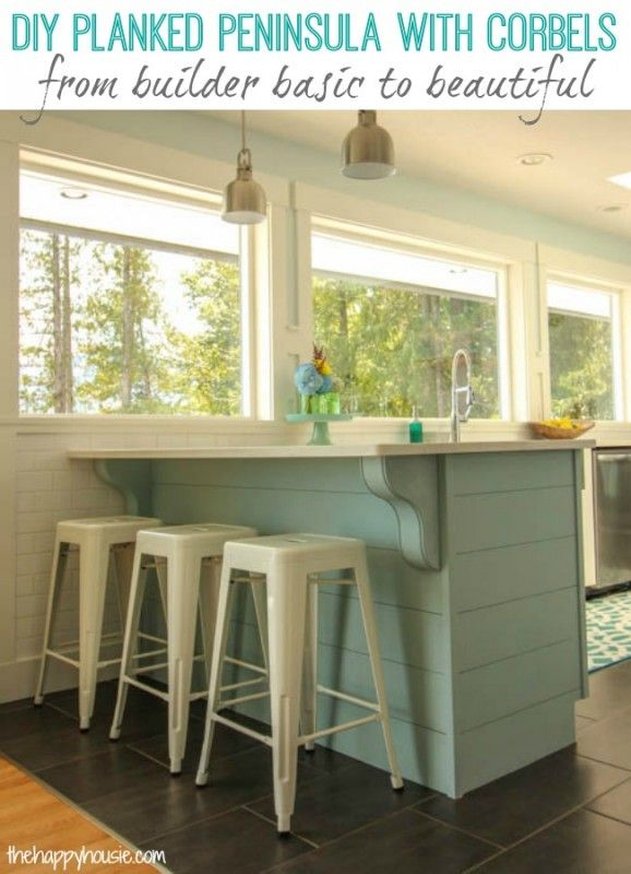 Update A Plain Kitchen Island Or Peninsula In A Weekend Or Less