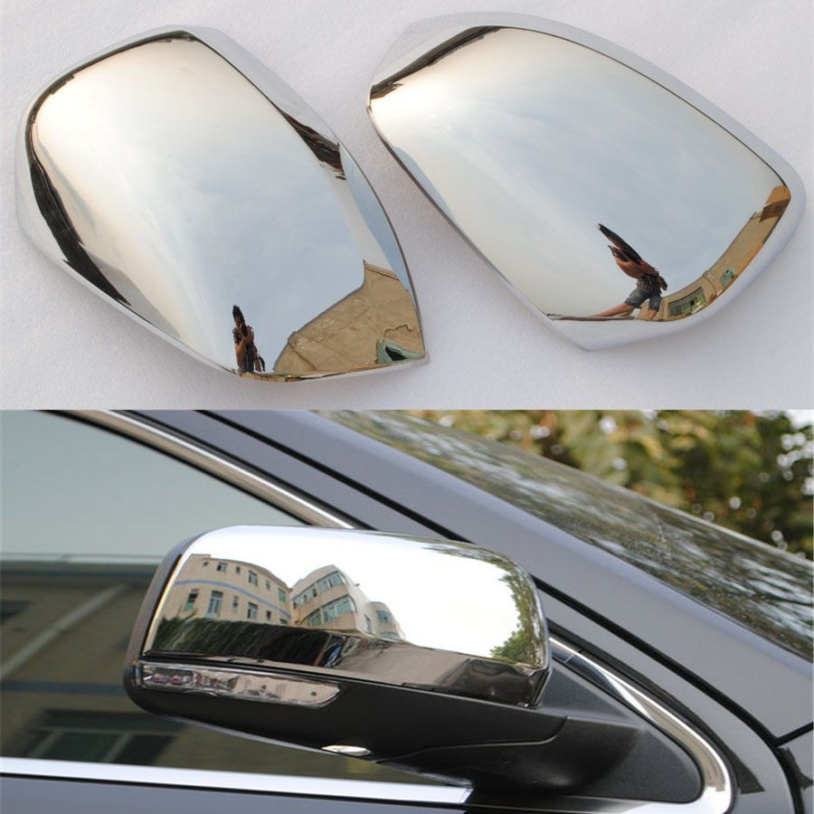 2pcs Set Abs Exterior Car Styling Side Rearview Mirror Decorative