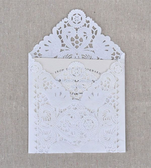 Lace Envelopes Are Very Elegant. Try To Figure Out How To