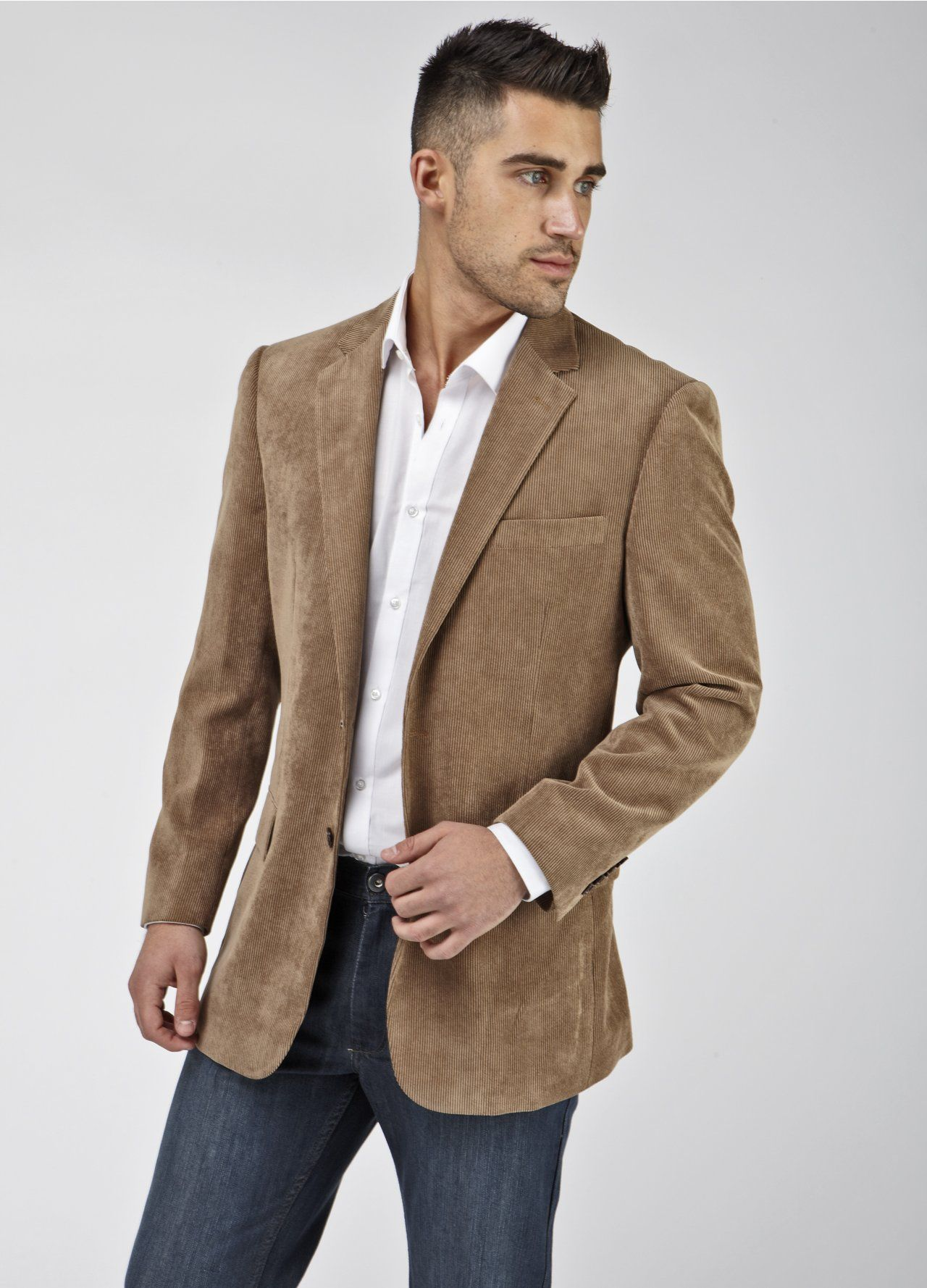 Brown Blazer With Jeans Photo Album - Reikian