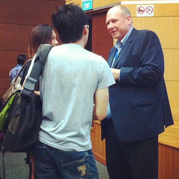 Martin Symes has fans! #WITnext #traveljobcamp #Webintravel #travel #SMU #Singapore #university - @webintravel- #webstagram